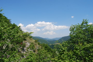 Green panorama of The Rhodopes