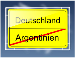 Weltmeisterschaft Schild