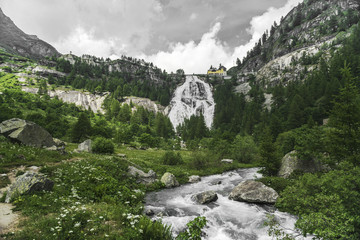 Waterfall of river Toce, Formazza Valley