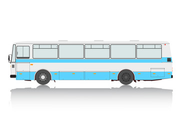 Bus on a white background.