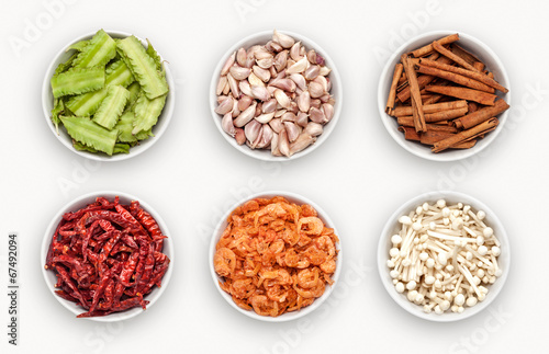 canvas print picture composite with many different varieties of ingredients