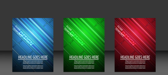 Set of business flyer template, cover design