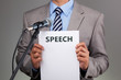 Speech with microphone