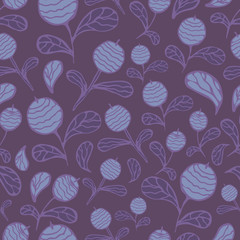 Vector blueberry seamless pattern