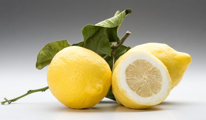 lemons isolated on white background