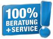 100% Beratung und Service - Beratung und Service - blau