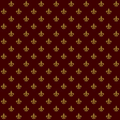 Royal Lily Fleur de Lis Seamless Pattern. Vector