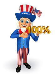 Uncle Sam with with 100 percent