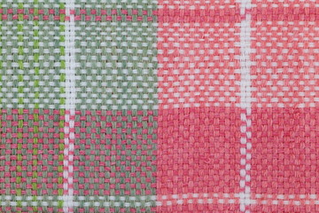 Close - up picnic tablecloth checkered pattern
