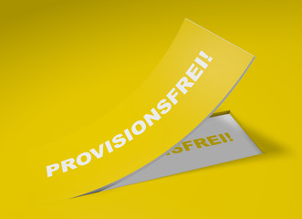 3D Etikett Gelb - Provisionsfrei!