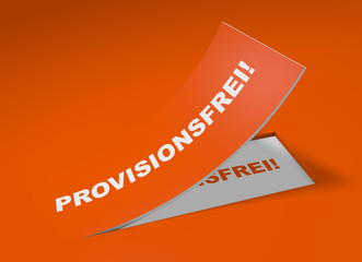 3D Etikett Orange - Provisionsfrei!