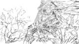 Street in paris. Eiffel tower -sketch  illustration - 67495041