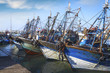 Blue fishing boats - 67495255