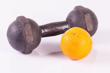 dumbell isolated on white.