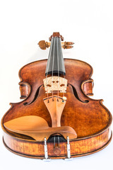 Antique violin isolated on the white background