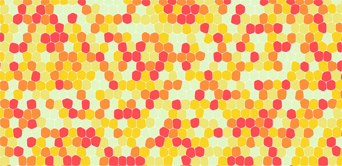 Yellow and orange tones hexagonal abstract background