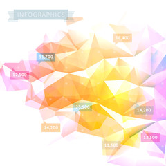 Low-poly infographics background
