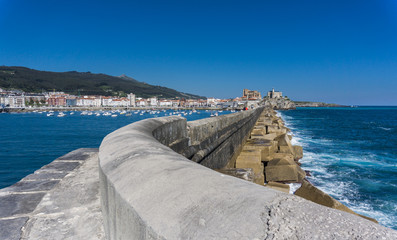 Breakwater Castro Urdiales and marina