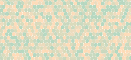 Blue and orange tones hexagonal abstract background