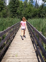 Walking in the nature trails