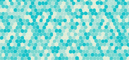 Blue tones hexagonal abstract background