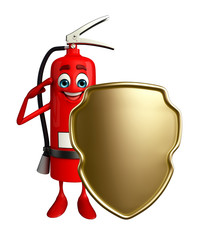 Fire Extinguisher character with shield