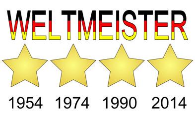 Deutschland Weltmeister 1954, 1974, 1990 und 2014