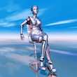 canvas print picture - Female Robot