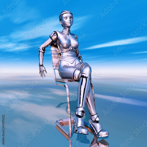 canvas print picture Female Robot