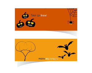 Abstract Halloween Banner