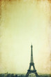 retro style Eiffel Tower