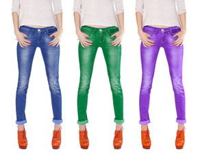 Multicolored jeans