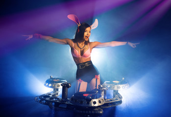 DJ girl bunny