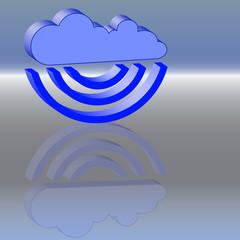 Cloud blau