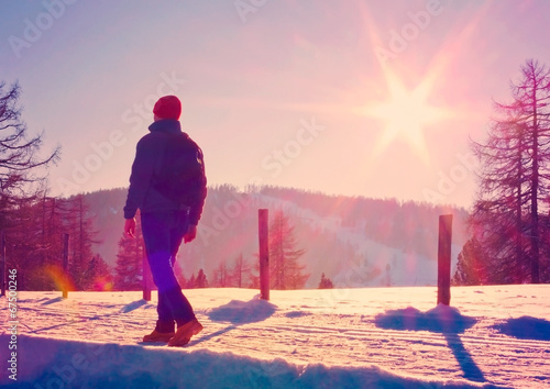canvas print picture wintersunset 01