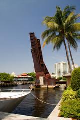 Hafenbecken, Einfahrt, Hafen, Fort Lauderdale, Zugbrücke