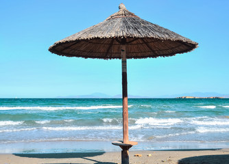 Parasol on the azure coast