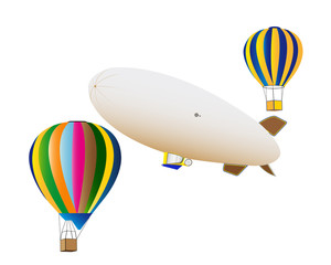 balloons and airship