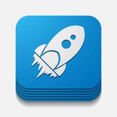 square button: rocket