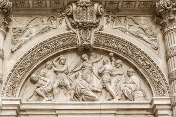 Architectural detail of Sainte-Genevieve, Paris