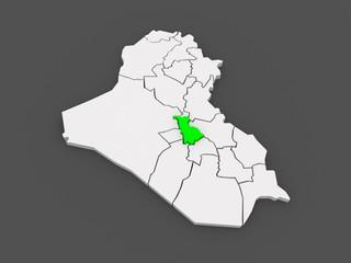 Map of Babil. Iraq.