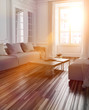 Bright sunlight streaming into a living room