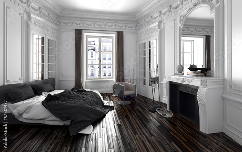 fototapete schlafzimmer in einem alten vintage zimmer mit stuck. Black Bedroom Furniture Sets. Home Design Ideas