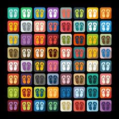 Flat design: slippers