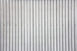 Wide shot of silver corrugated metal wall - 67501858