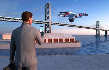 Drone, monitoraggio urbanistico, architettura, ingegneria