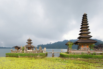 Balinese water palace on Bratan lake