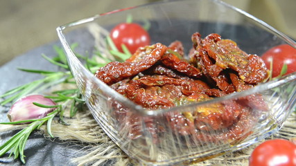 Sun dried Tomatoes as not loopable full HD video
