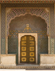Beautiful Ornate Door in jaipur-rajasthan, India