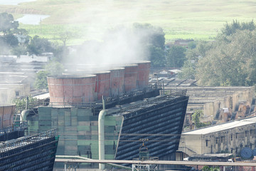 Cooling tower of a thermal power